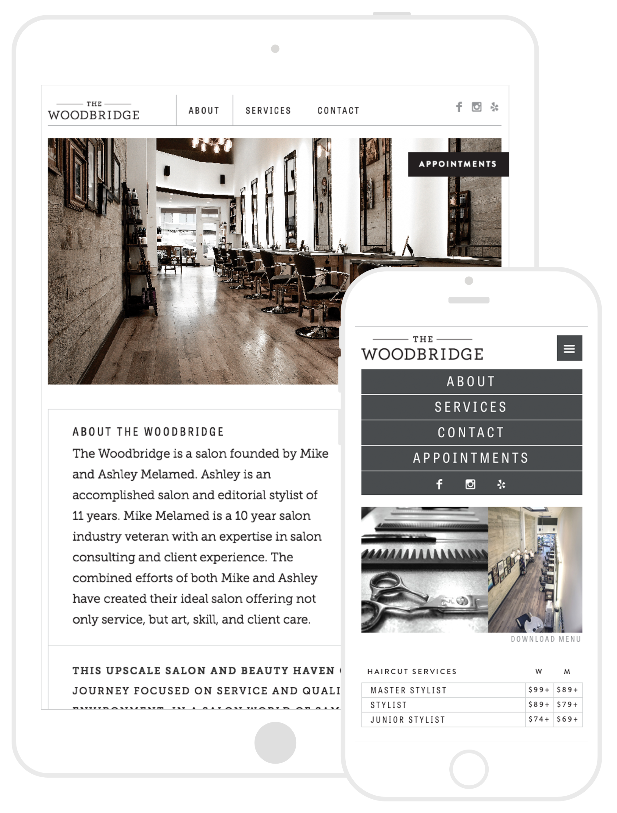 The Woodbridge Salon Website Development by Second + West