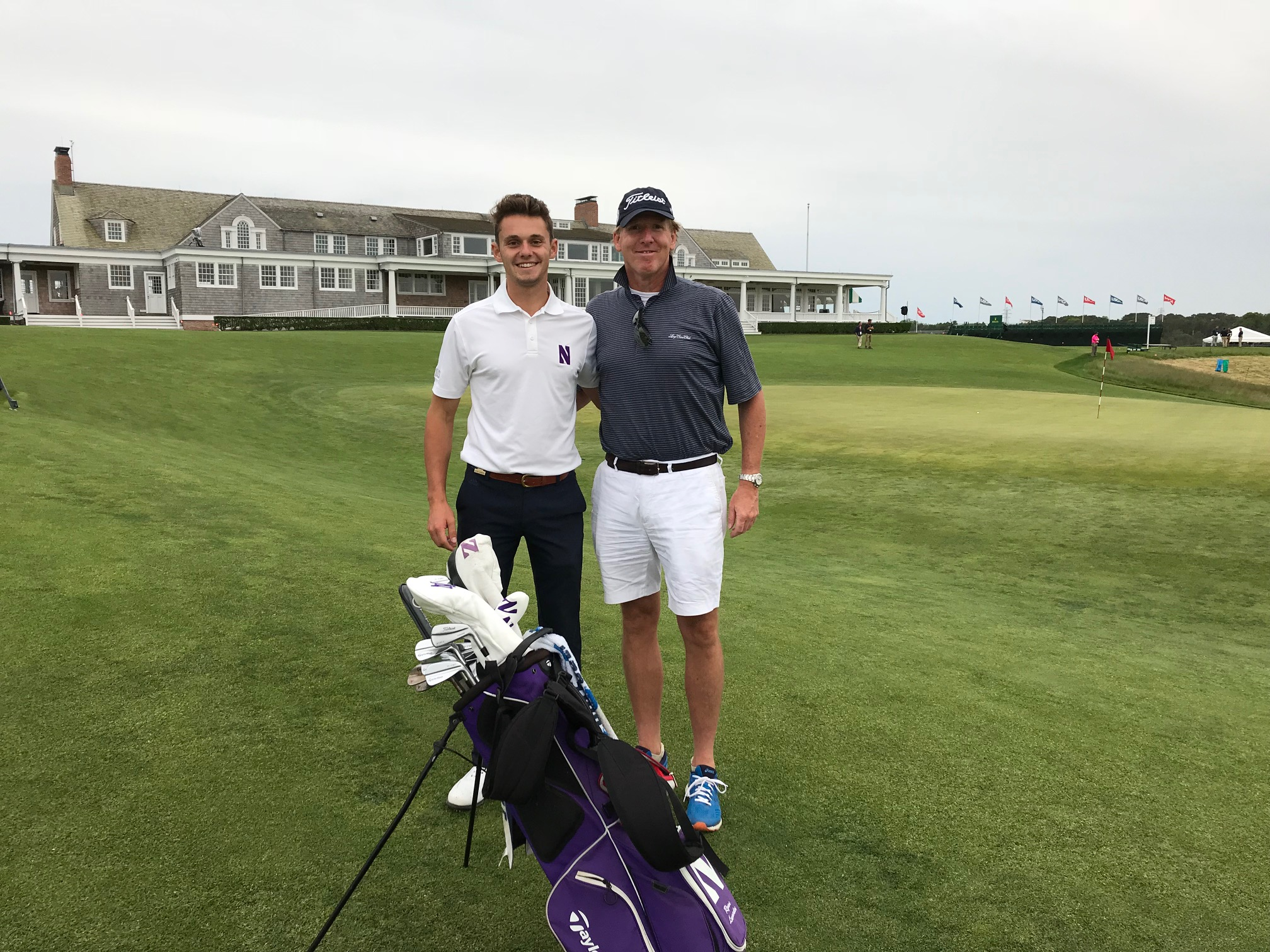 Ryan Lumsden with father, Alistar Lumsden at the 2018 US Open at Shinnecock Hills. Ryan competed as an amateur at the event.
