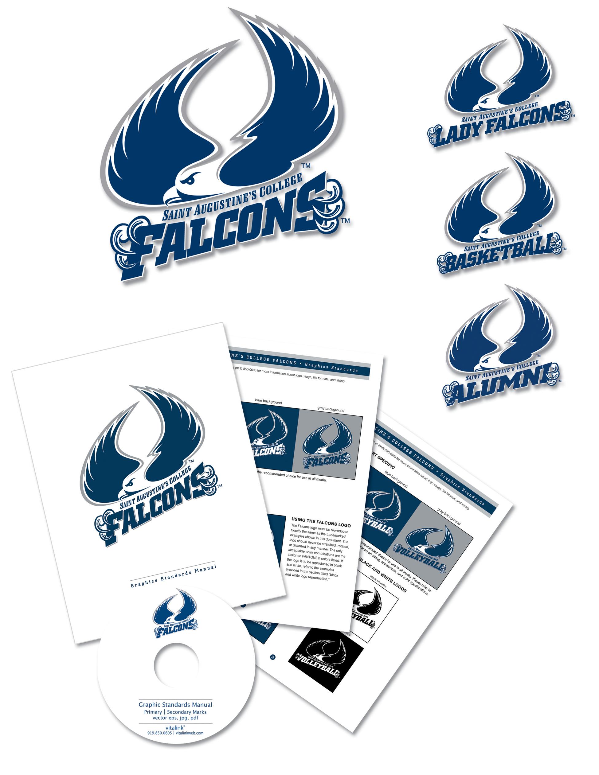 St. Augustine's sport logos by vitalink