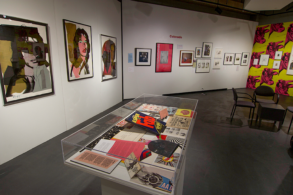 Warhol in Colorado installation at the Victoria H. Myhren Gallery, School of Art & Art History, University of Denver.