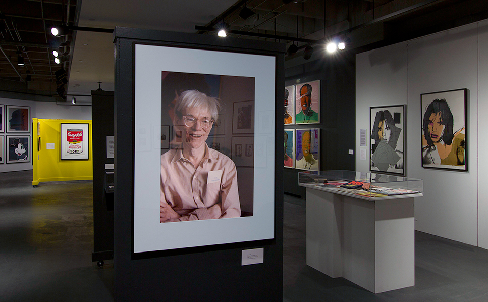 Photo of Andy Warhol by Mark Sink