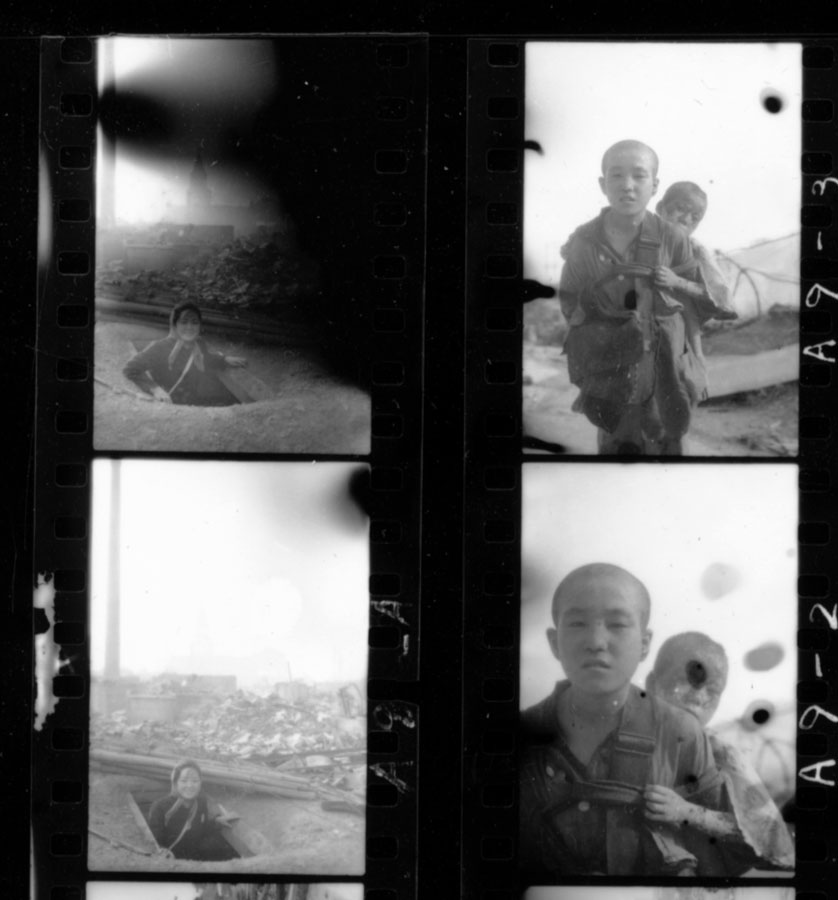 Detail of original contact sheet before retouching