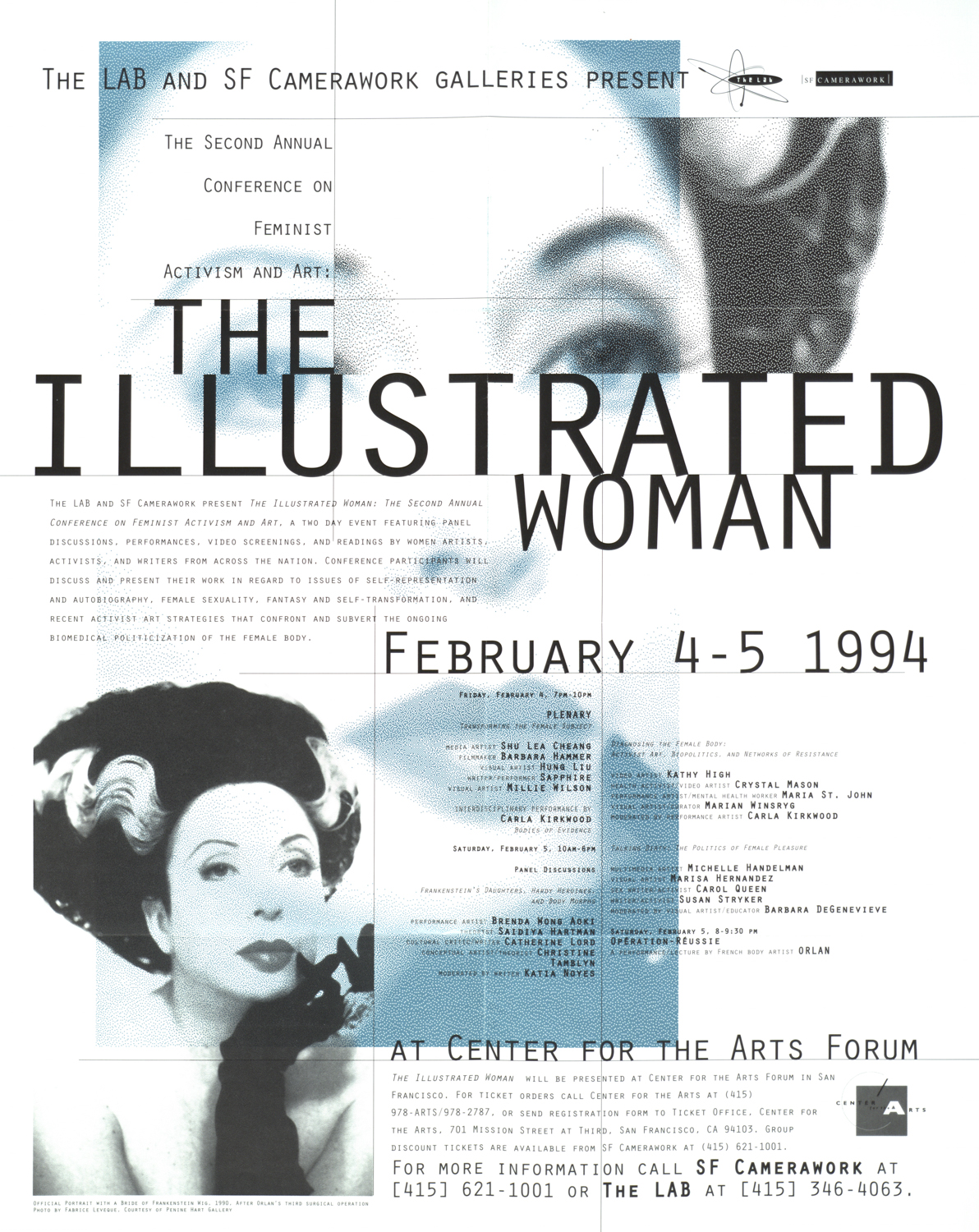 SF Camerawork, 1994: Poster for Feminism conference organized with Laura Brun of The Lab