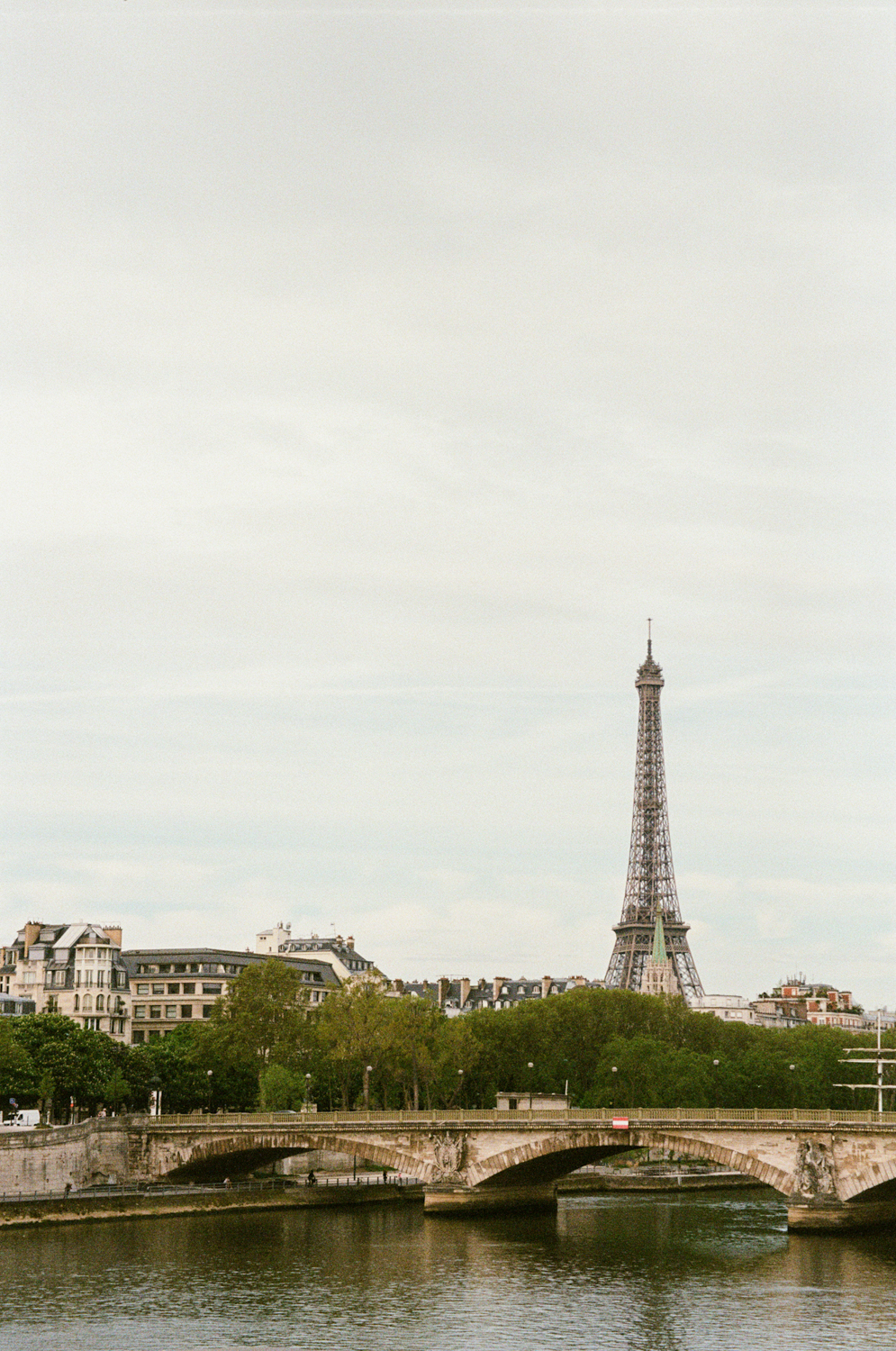 Eiffel Tower from across the River Seine