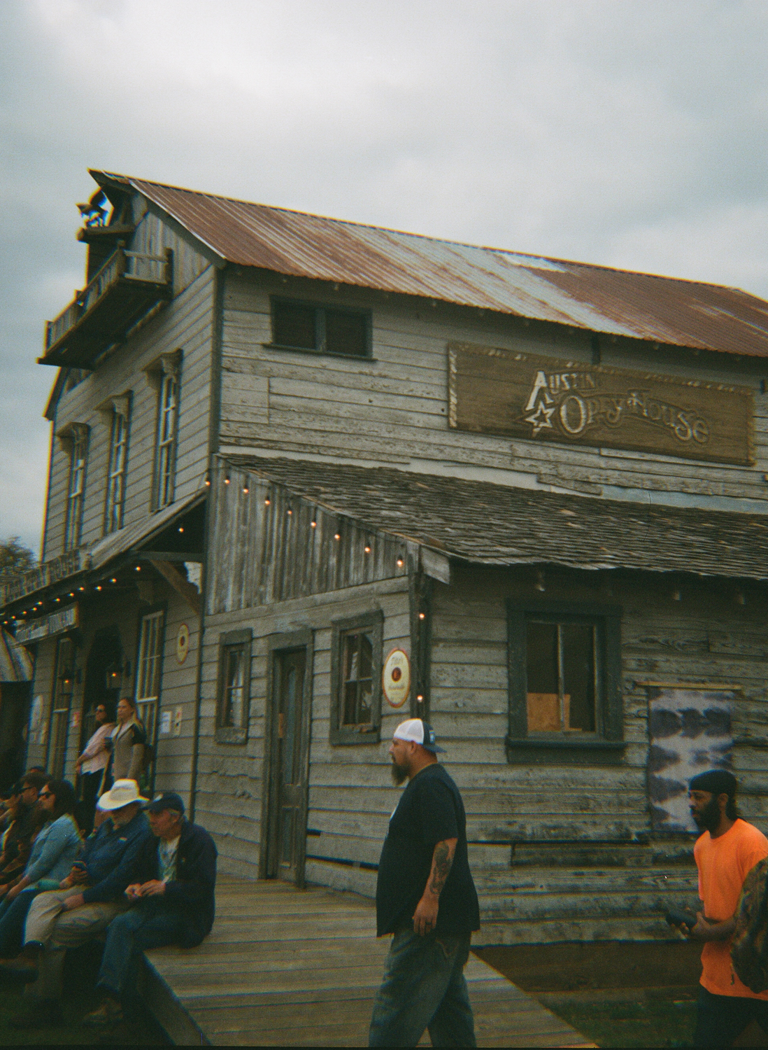 film photo of a barn