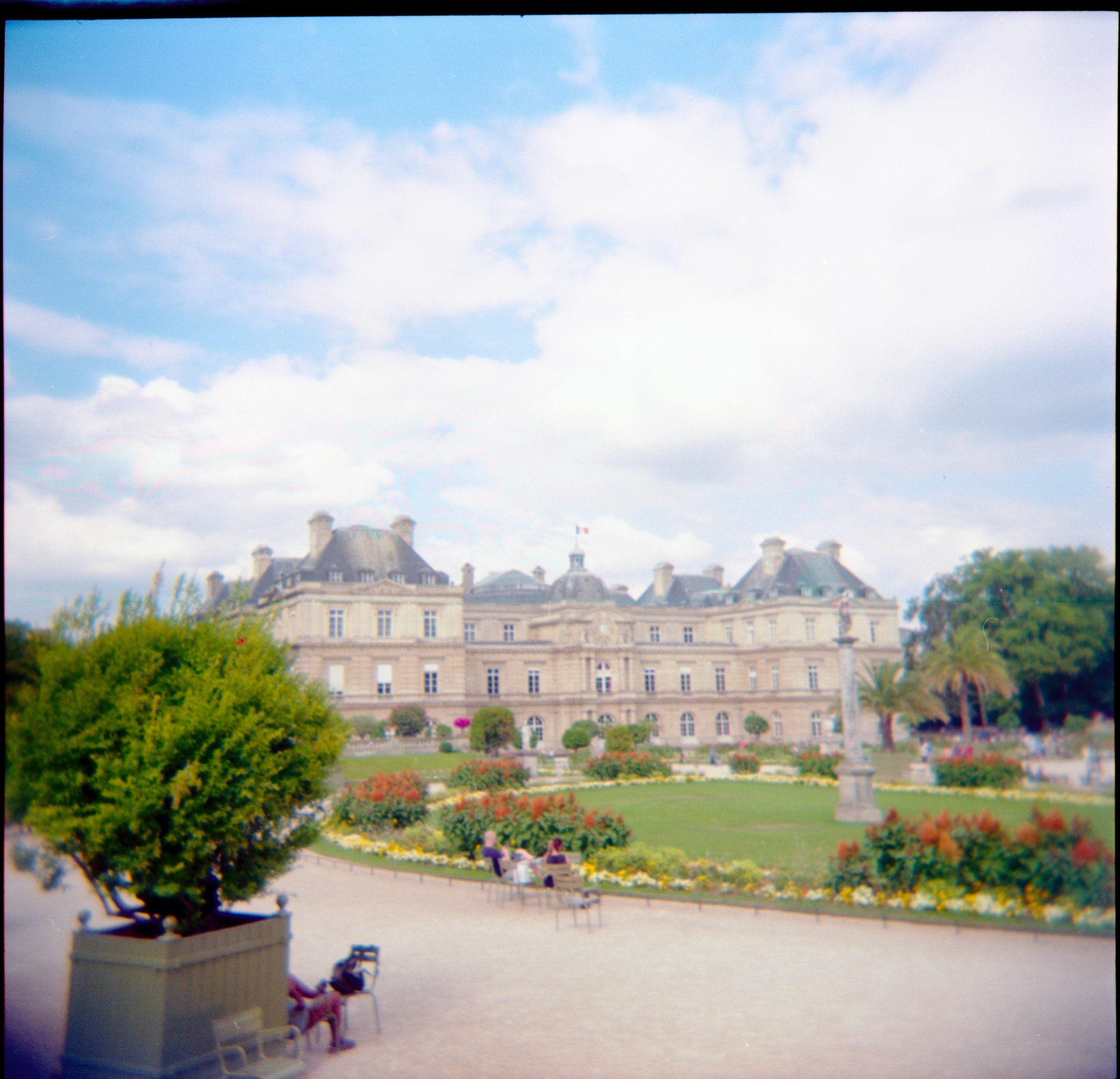120mm film photo of Luxembourg Gardens