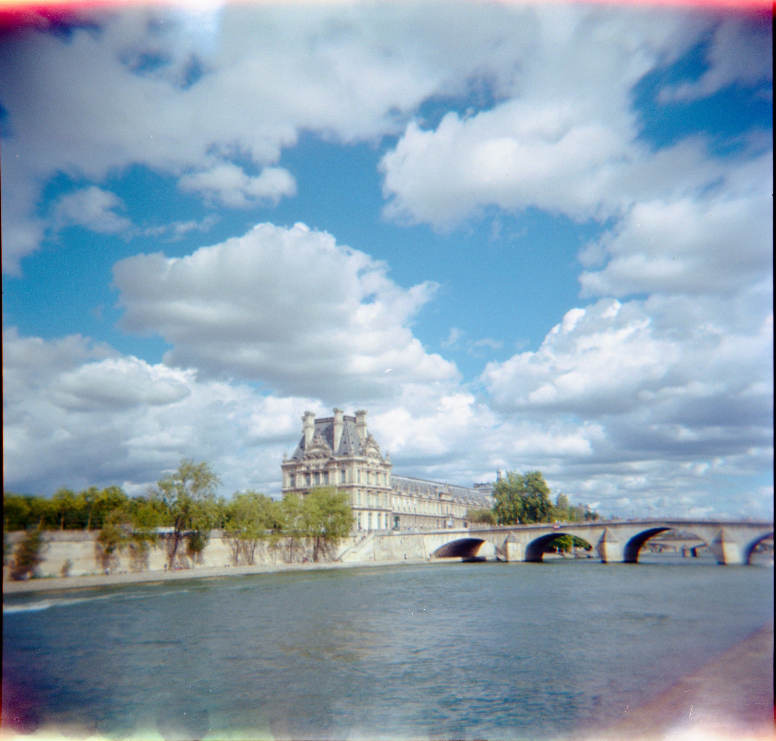 the Louvre on the Seine