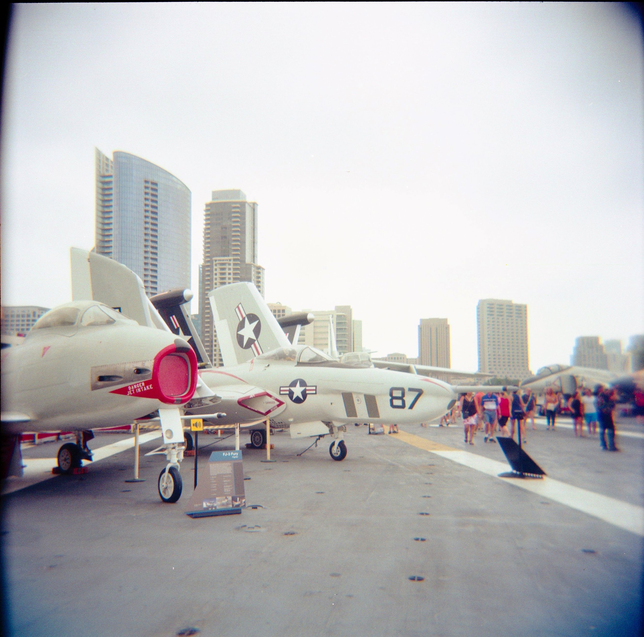 San Diego skyline from the USS Midway