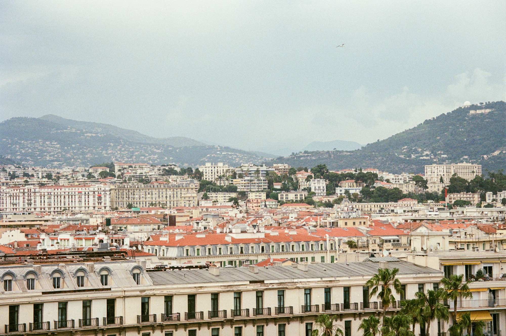 view of Nice France on 35mm film