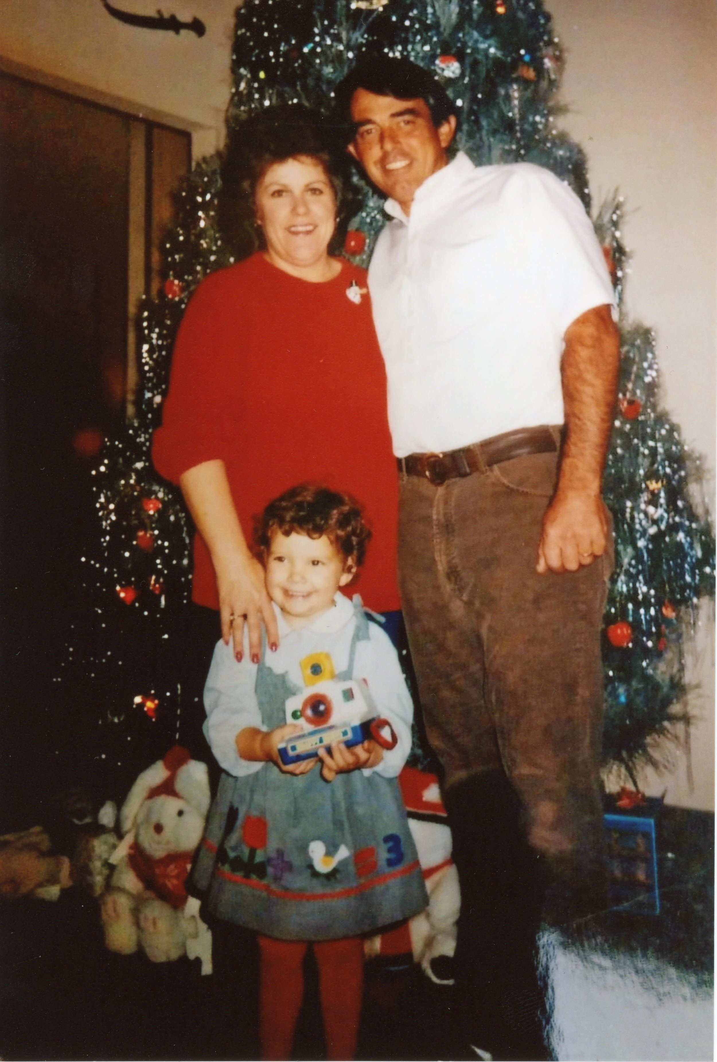 Nana, Poppie, and me (1987) with my first camera