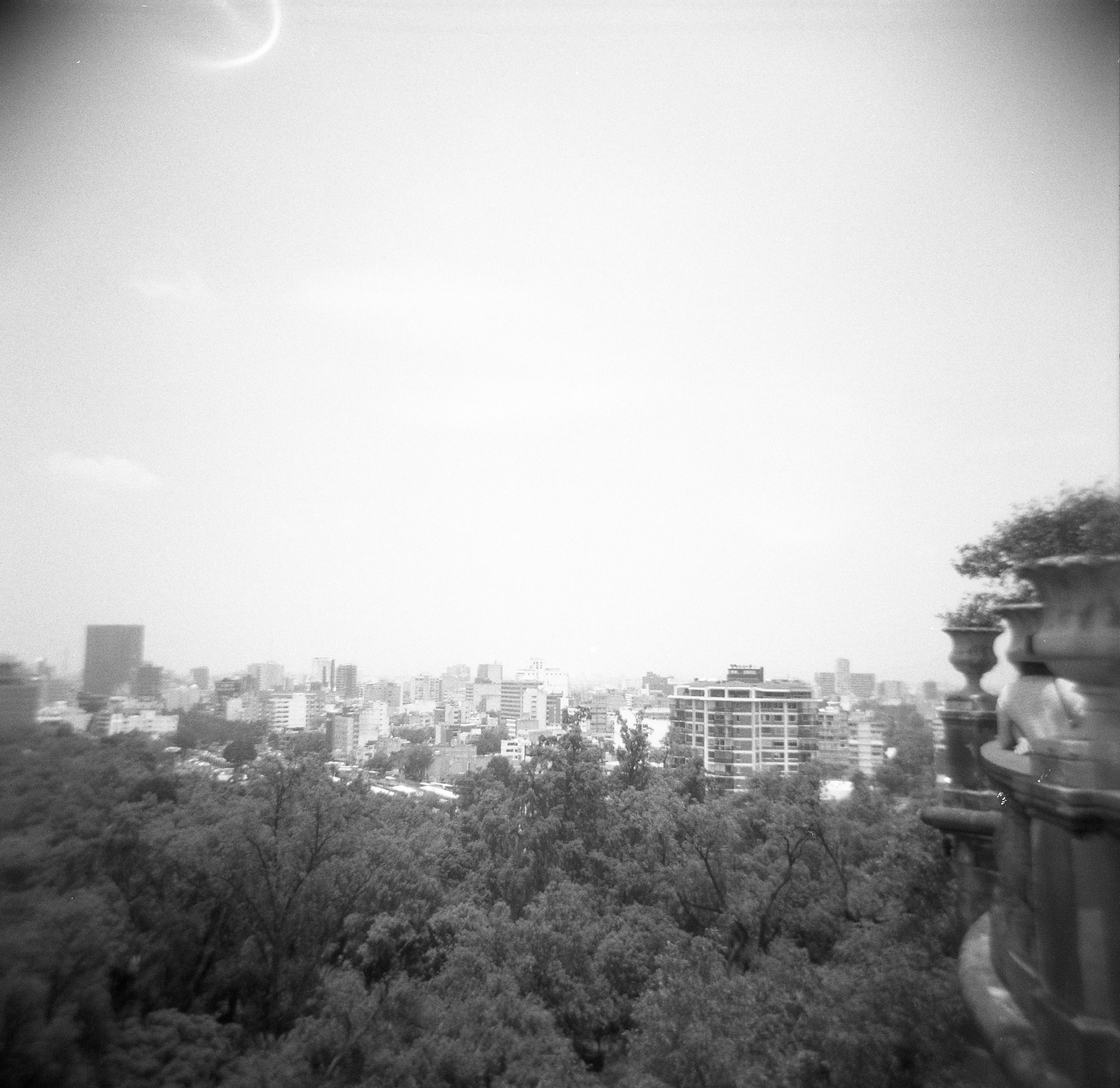 Views of Mexico City from Chapultepec Castle