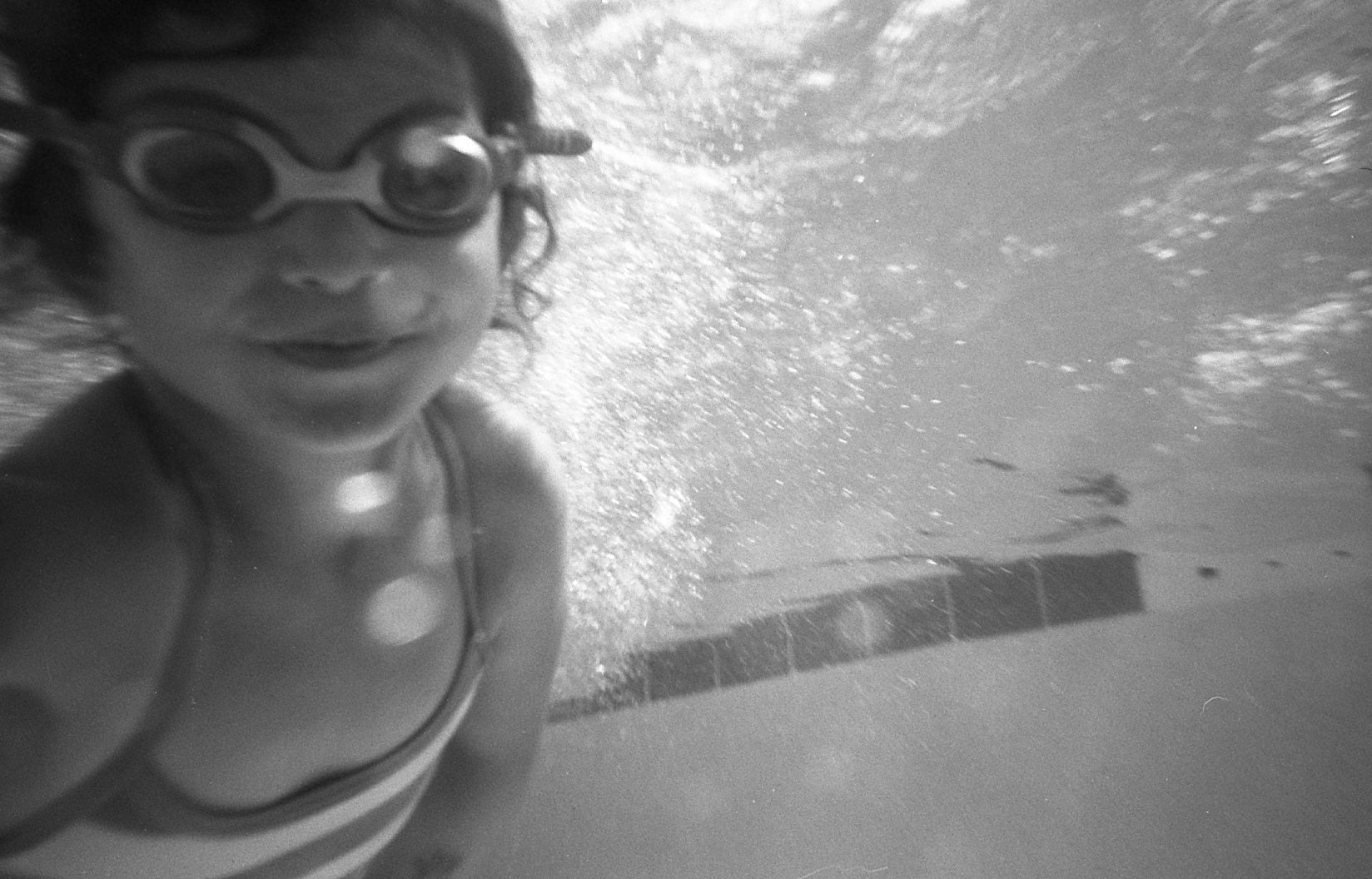 using the Snap Sights underwater camera in the pool