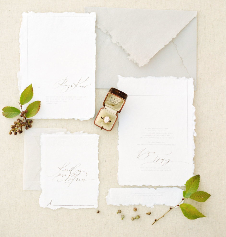 rustic winter wedding banks & leaf