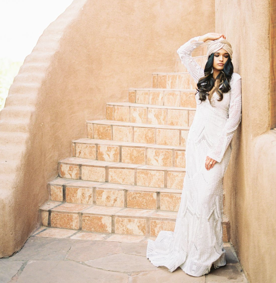 Santa Fe Desert Bride - As if the desert wasn't magical and mysterious already...