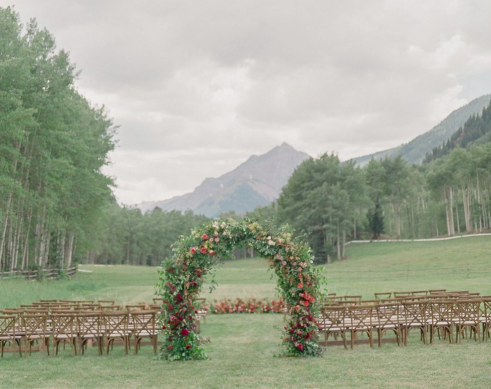 Wedding in the Meadow at T Lazy 7 Ranch in Aspen - Thoughtful details and personal touches from the bride and groom's own love story..