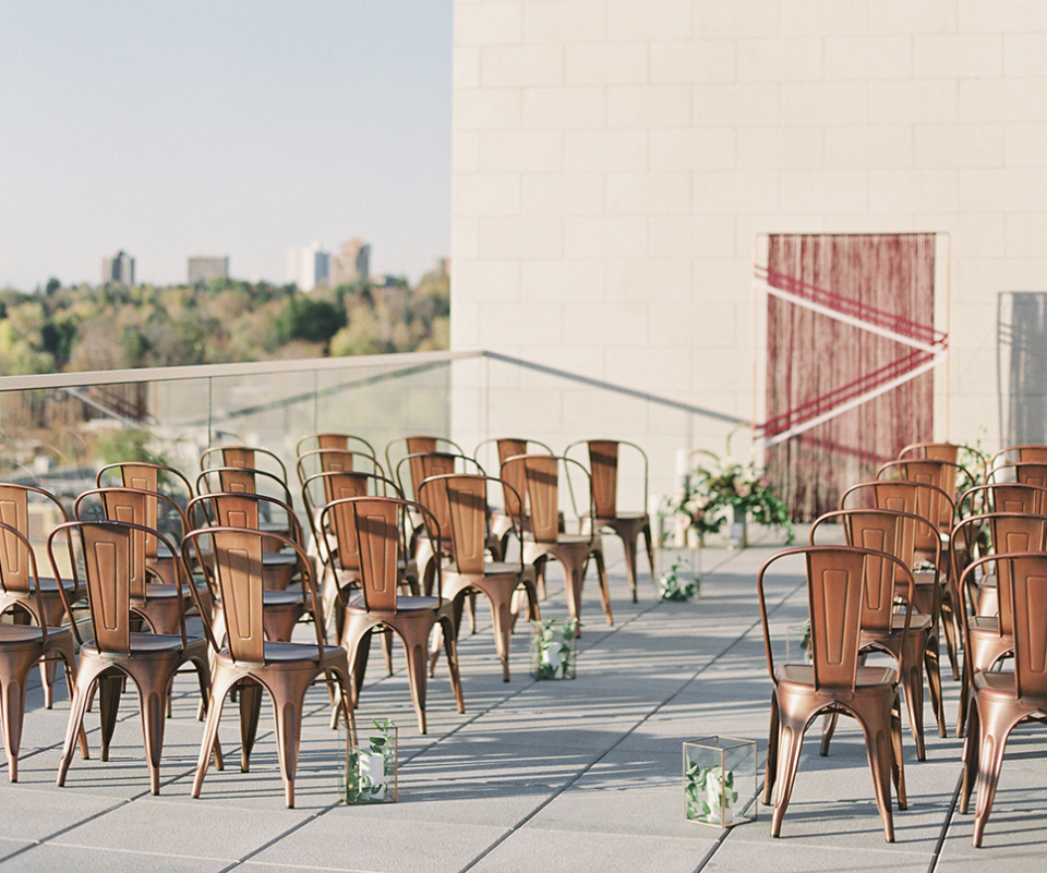 Bold and Moody Rooftop Cherry Creek Wedding - Ready for an added bit of drama to your day?..