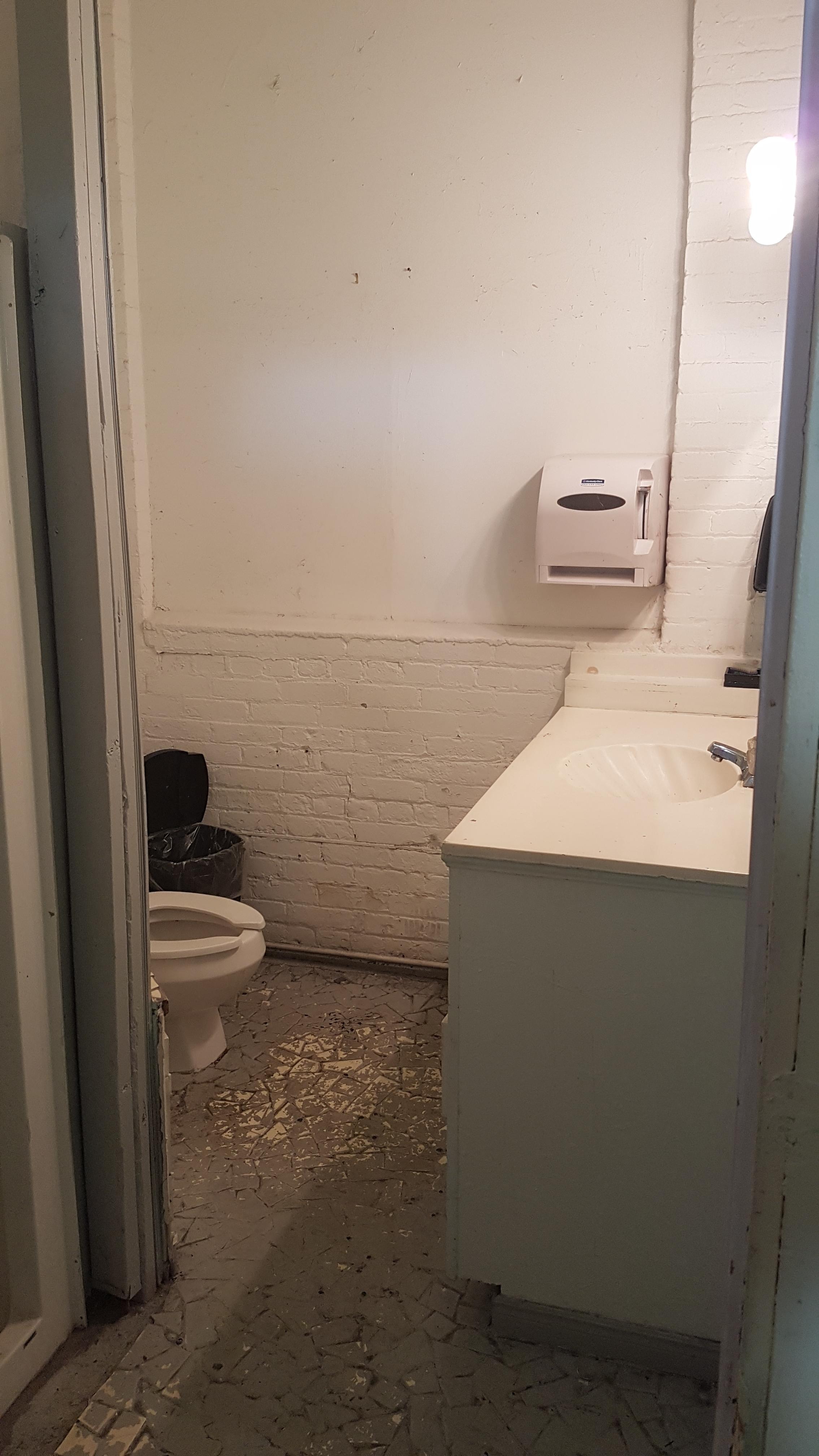 second floor studio bathroom