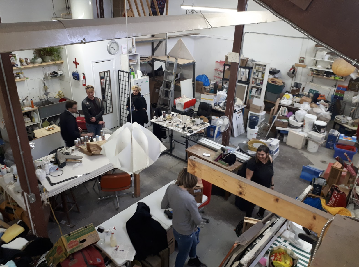 Artists packing up Akin Dufferin to move to their new studio spaces.
