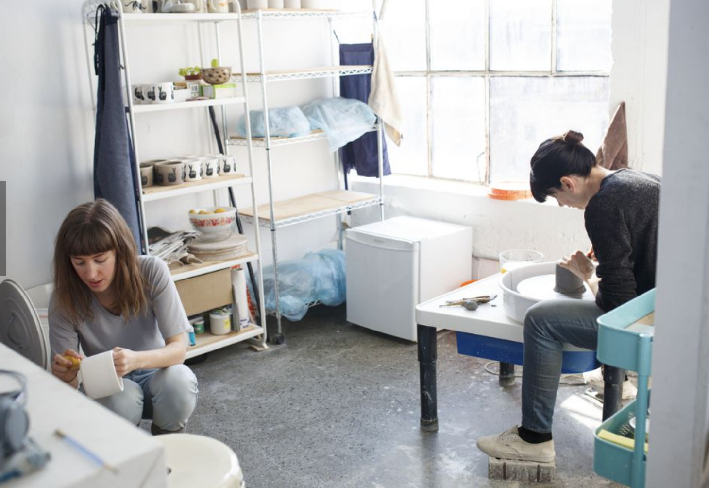 Artists working at Akin Dupont Art studios for rent in Toronto Canada. Photo by Cole Burston for the Toronto Star