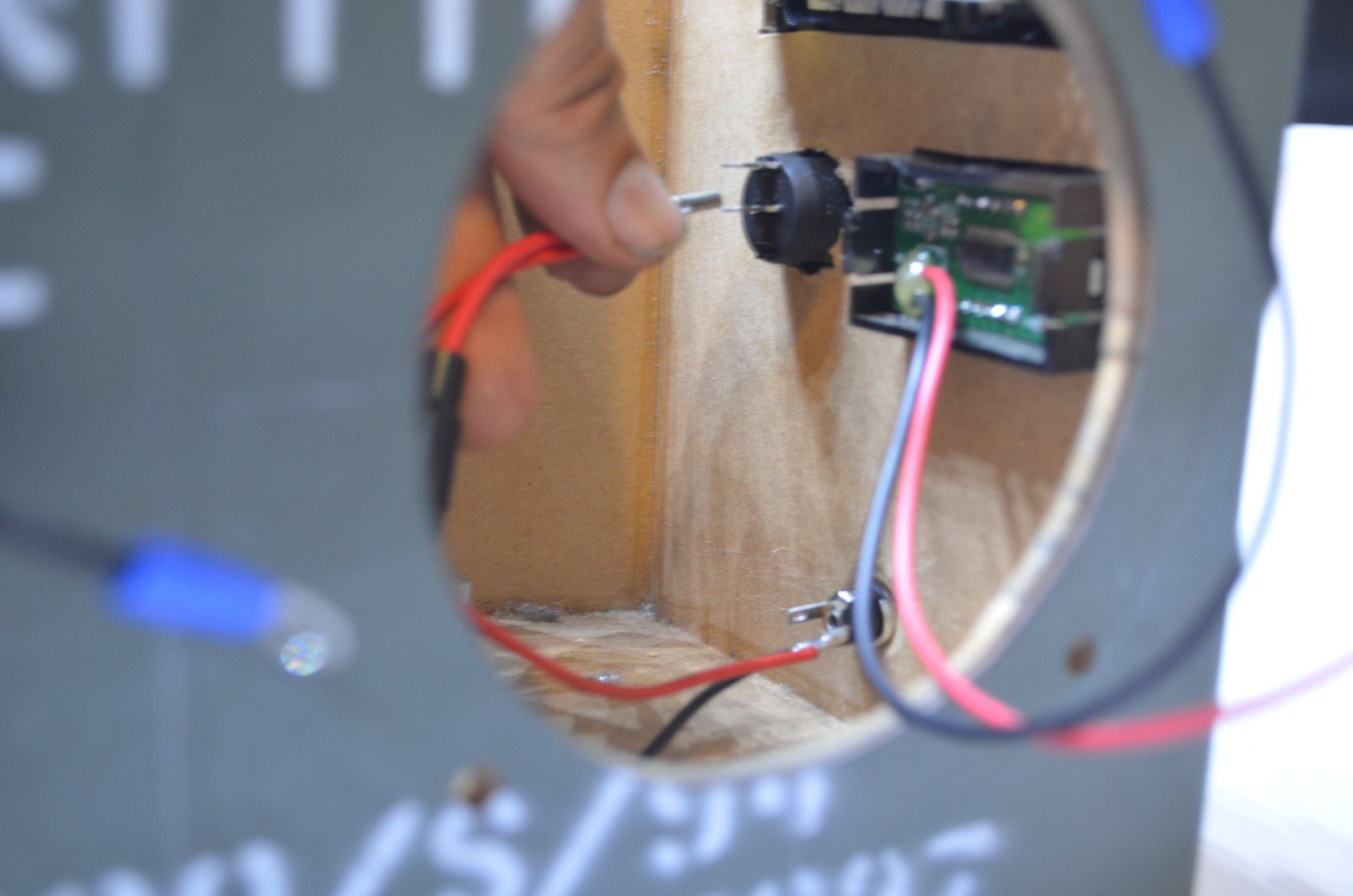 Wiring the Positive DC Socket to either pole of the Switch.