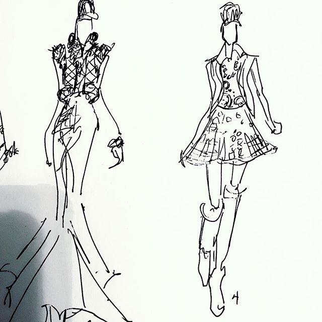 A couple more... #sketchbook #sketch #designer #drawing #fashion #fashionsketch #fashiondrawing #fashionillustration #fashionillustrator #illustration #illustrator #fashionart #linedrawing