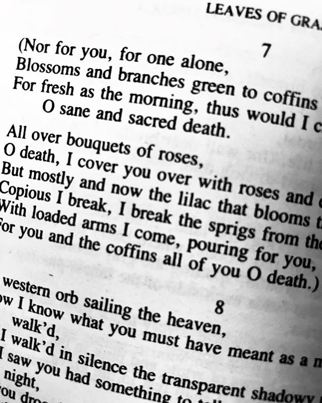 Taking forever to read this. #leavesofgrass #waltwhitman #readinglist