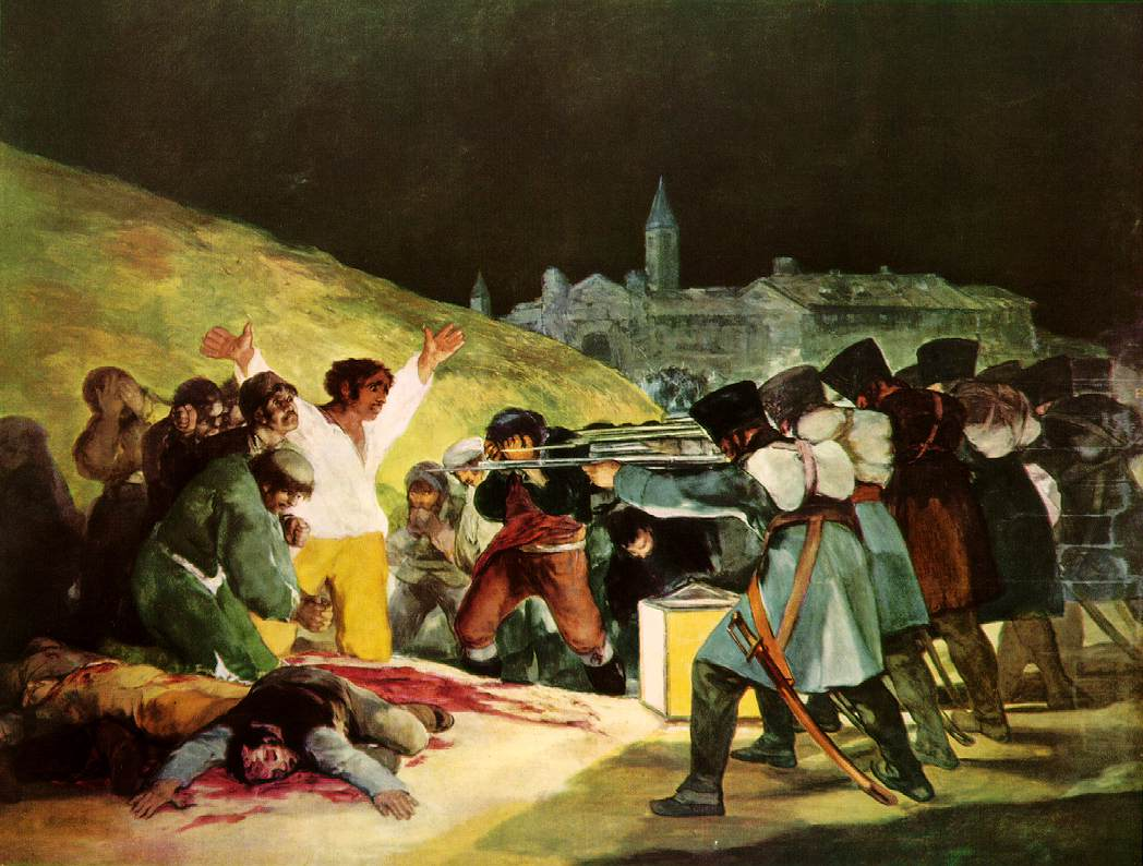 Francisco Goya,  The Third of May, 1808    in Madrid  , 1808, 1814-15,