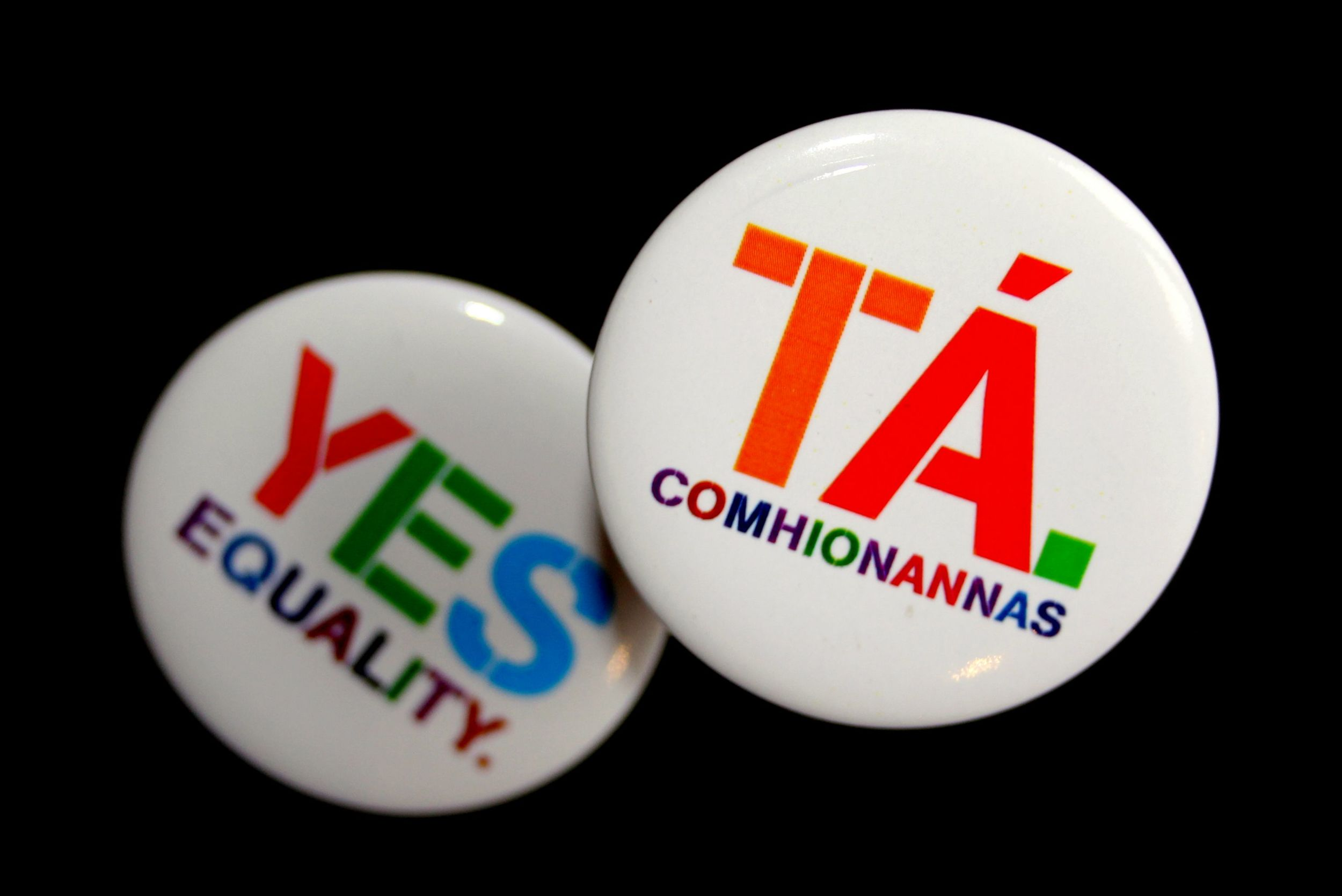 Marriage equality badges (image via YesEquality.ie)