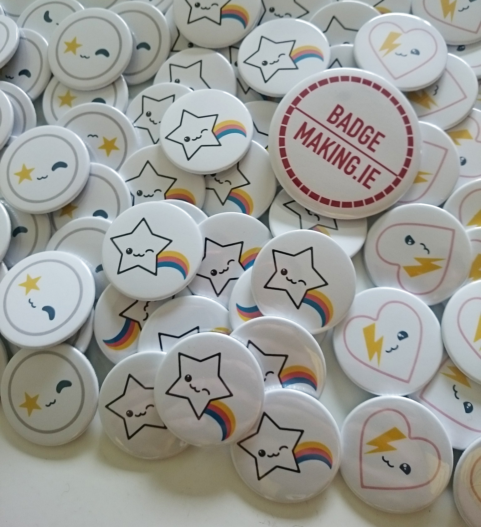 38mm Printed Badges for Moobles and Toobles for the Playtime Trade Show in Paris
