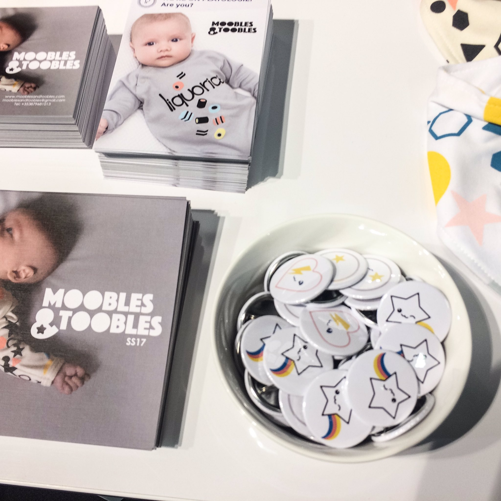 Printed Badges for Moobles and Toobles at the Playtime Trade Show in Paris
