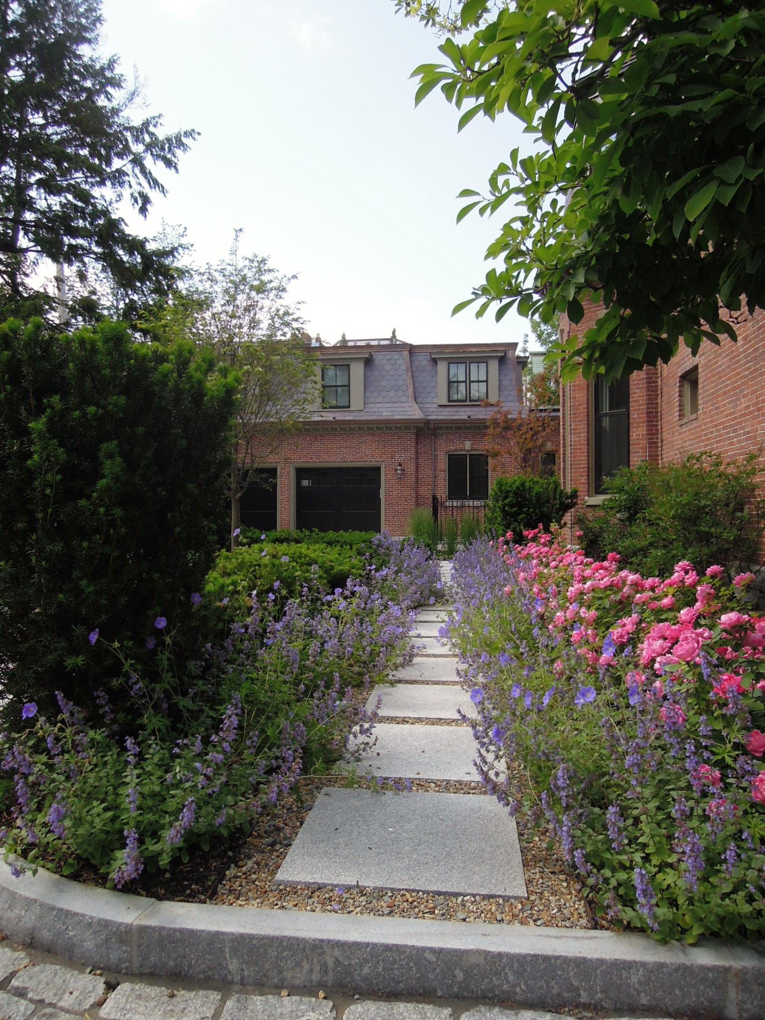 Courtyard and Gardens   Brookline, Mass.