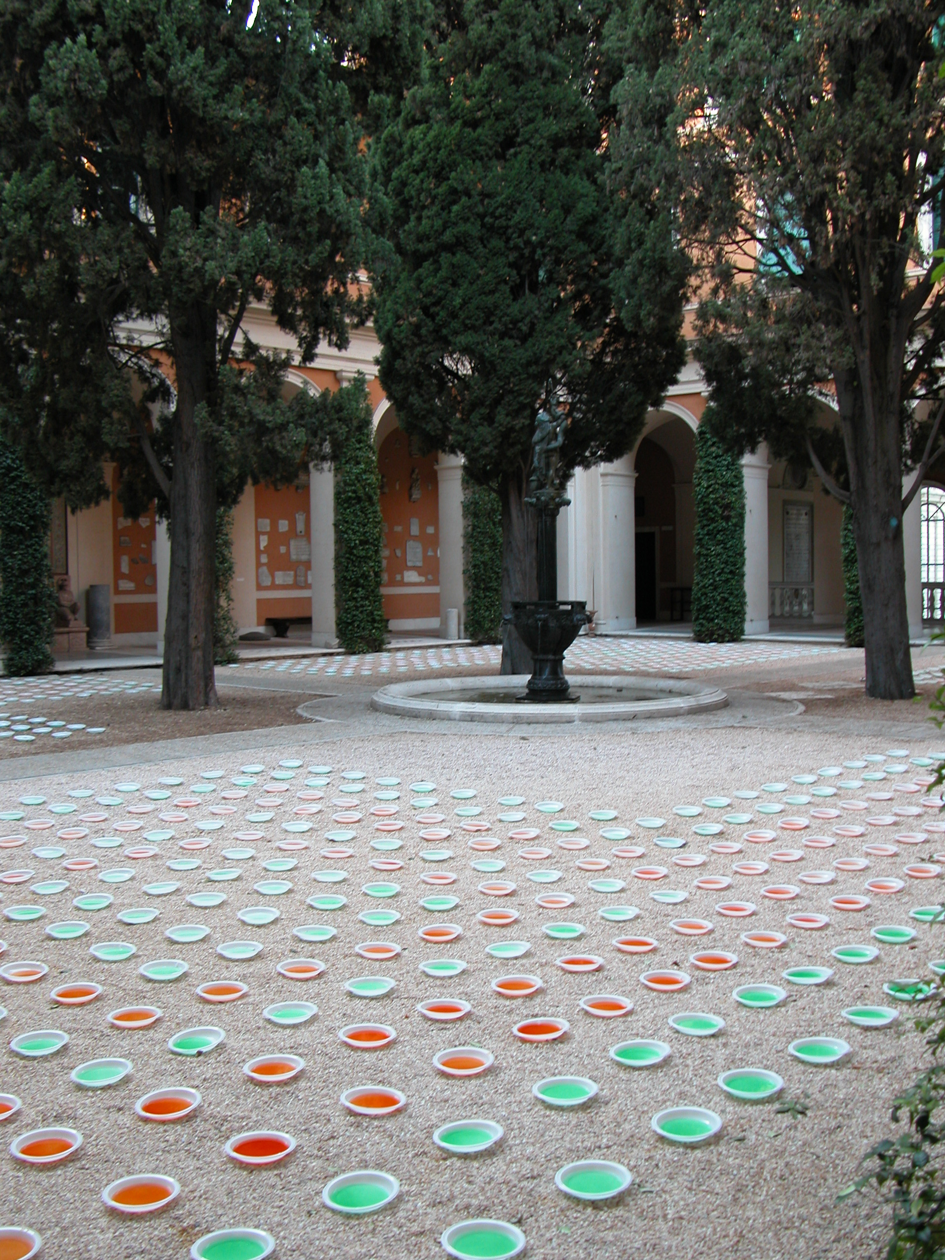 American Academy in Rome   Temporary Courtyard Installation