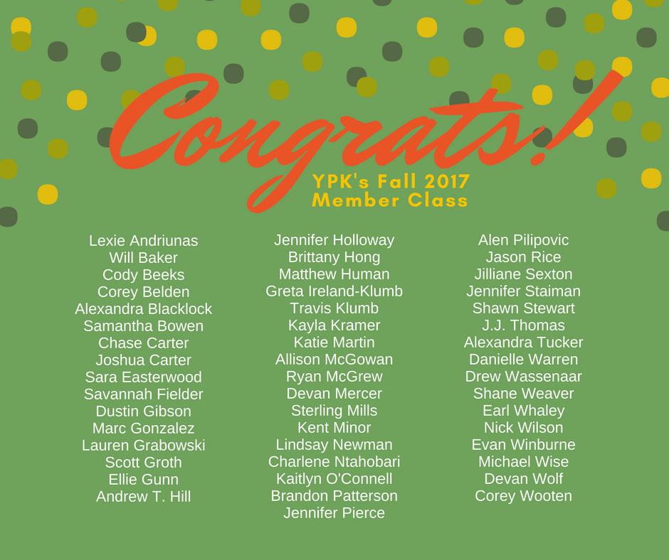 YPK Fall Membership Class