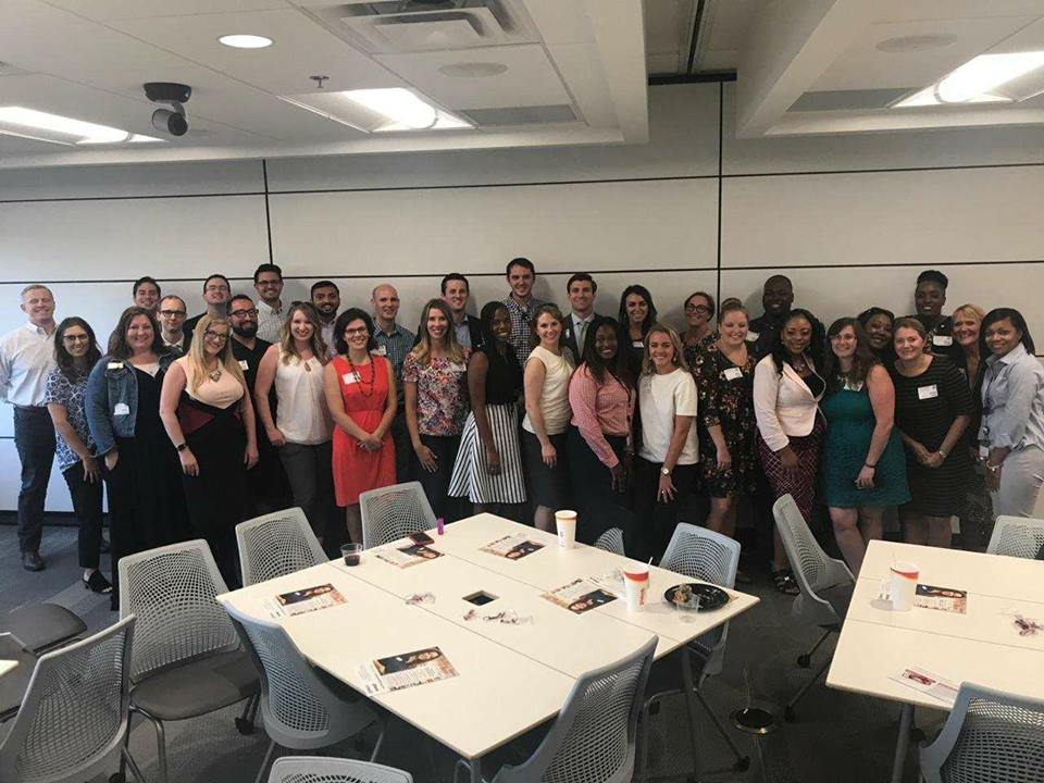 Young Professionals of Knoxville members along with members of Knoxville Area Urban League learning about Pilot Flying J at an exclusive professional development event hosted at the company's headquarters.