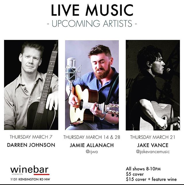 If you're looking for something to do tomorrow night come down to @winebarkensi and watch me try to remember how to play guitar from 8-10