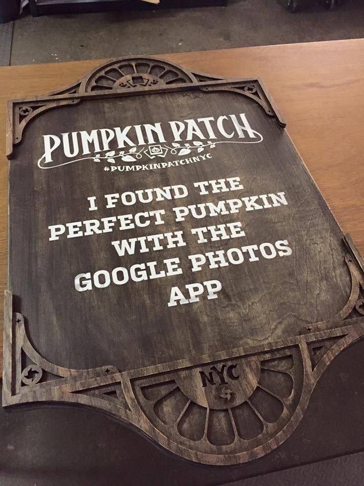 Google. -  Agency contract project  Pop-up pumpkin patch, NYC 2015.