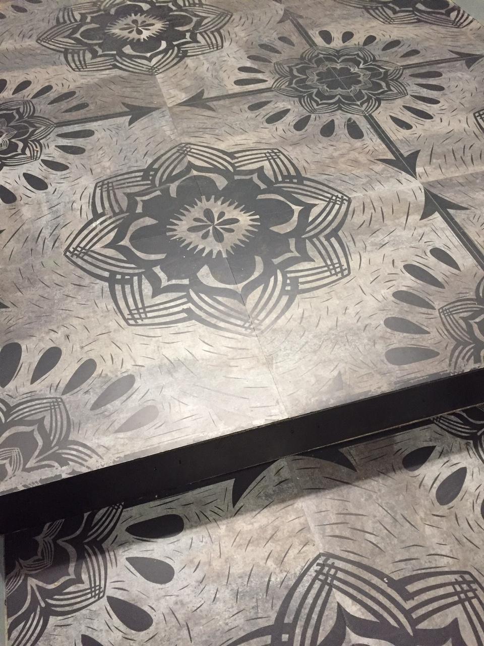 Floor Tiles, 2016.  Screen printed flooring.