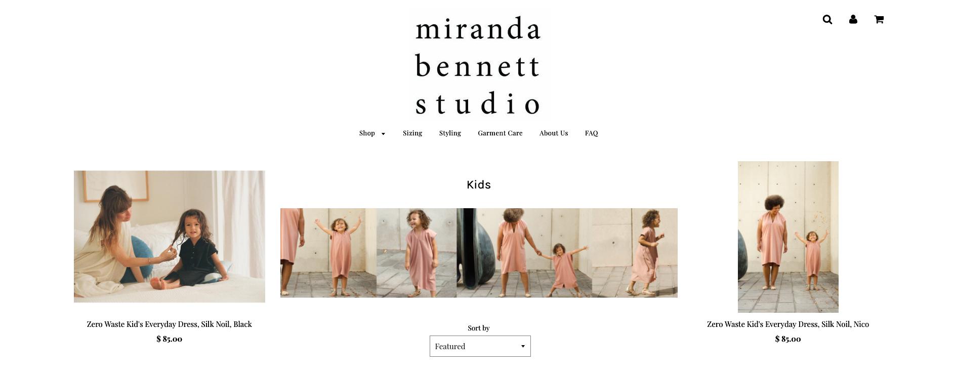 Website Layout for mirandabennett.com