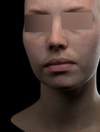Arnold skin shader test (model and texture are scan data)