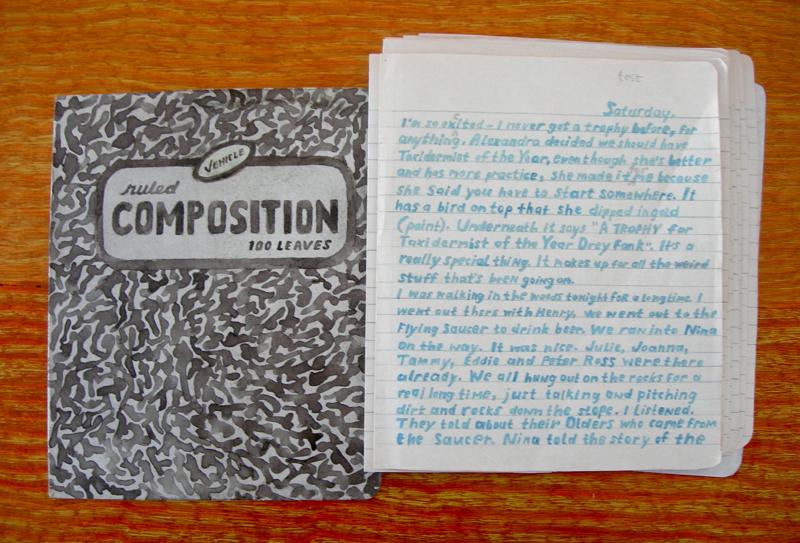 Diary entry (diary in progress)