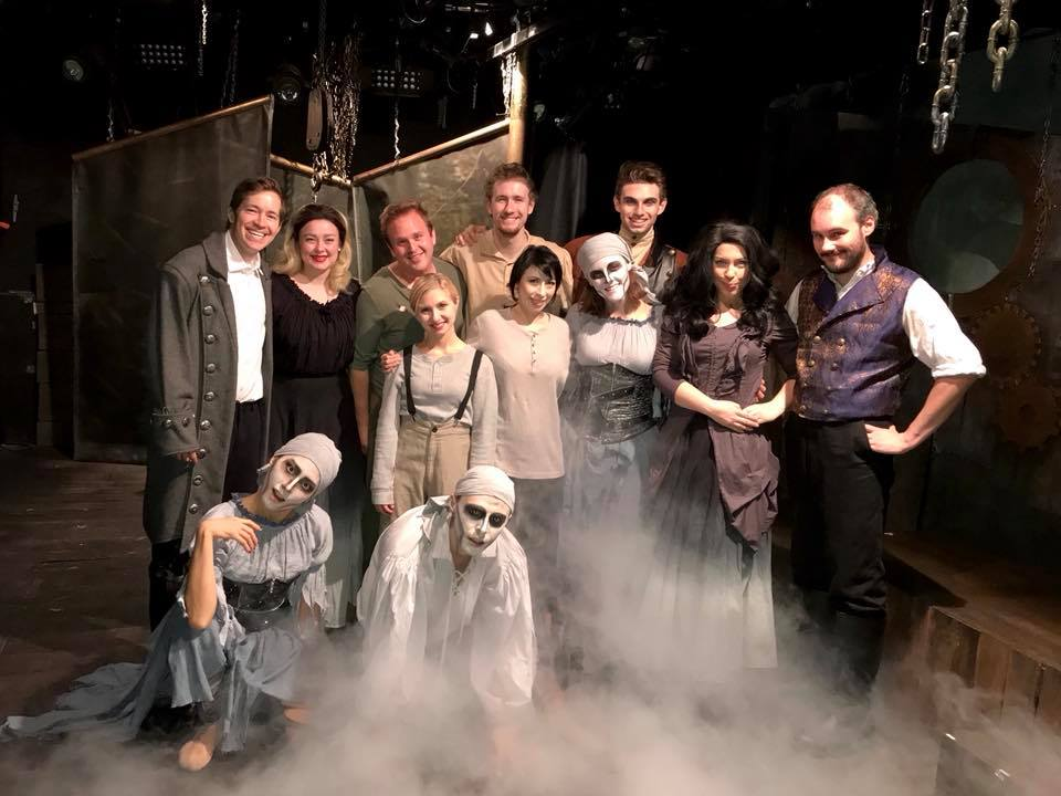 The cast of  Frankenstein The Musical . October 2017.