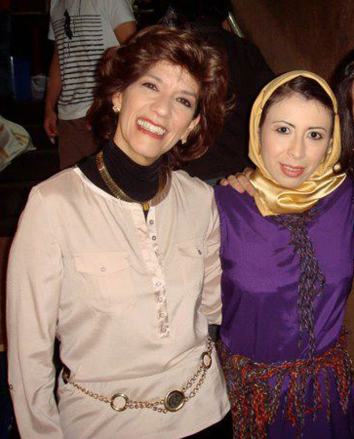 Maria Isabel 'Misi' Murillo (1957-2018) and me backstage during my big theatrical break in Colombia, 2010