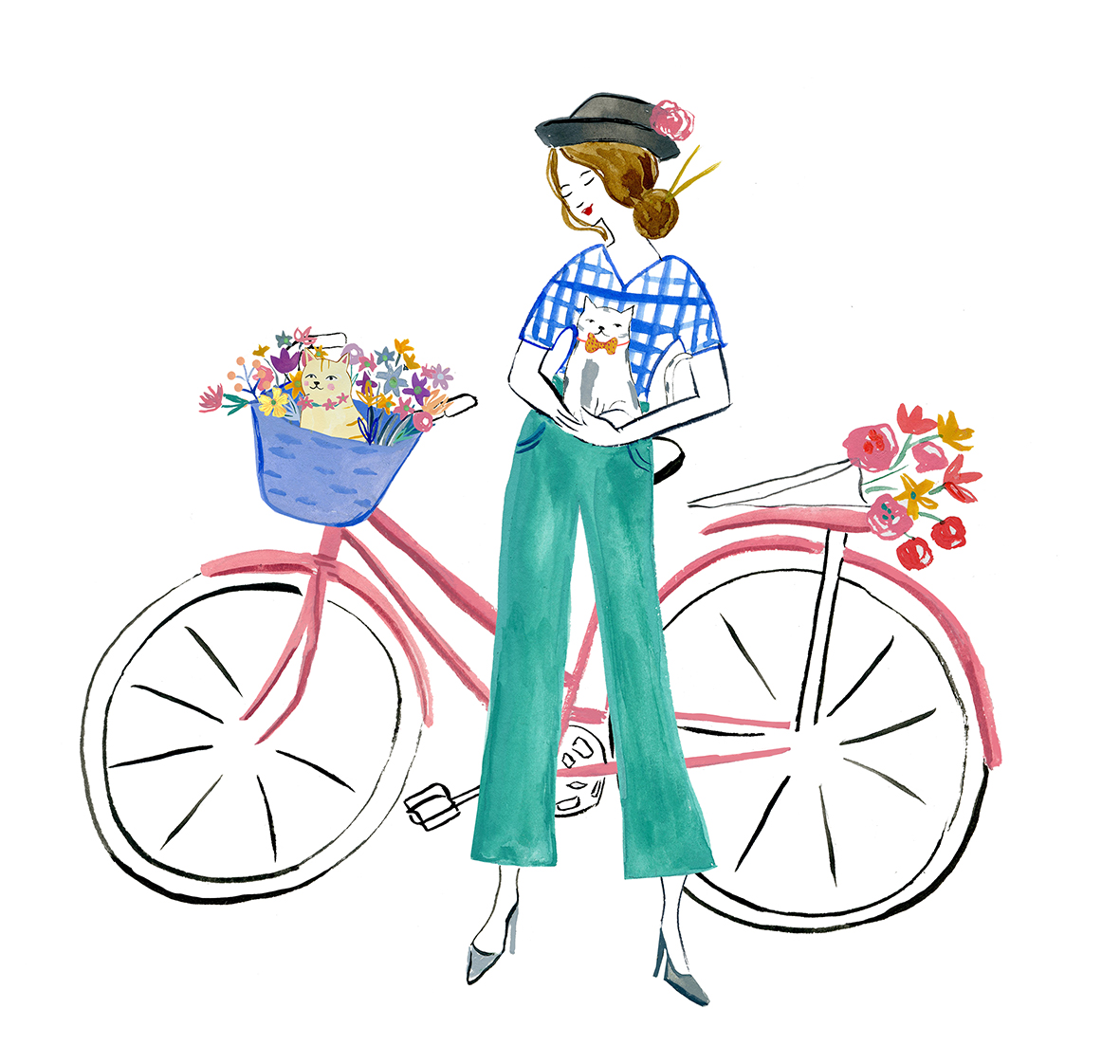Girl_with_bike_flowers_and_cats.jpg