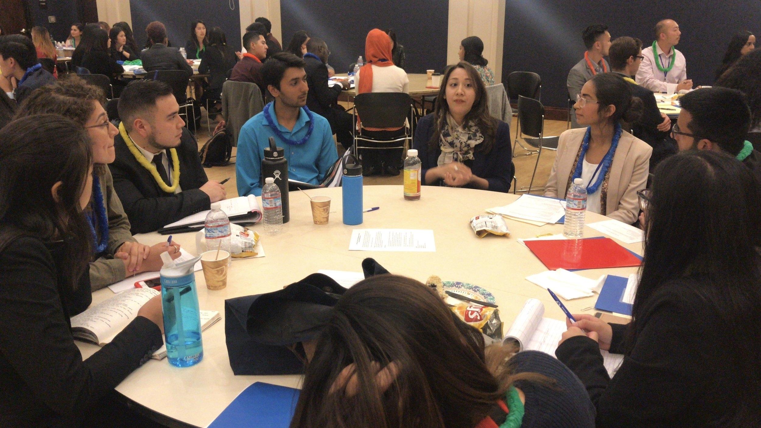 HCC Alumni Talking to Interns