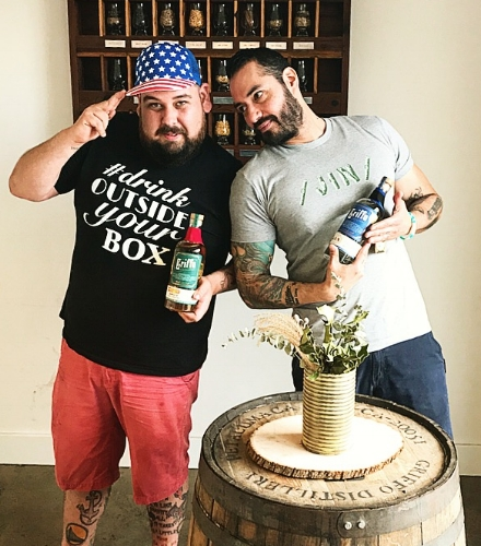 #drinkoutsideyourbox with Franco and Danny O