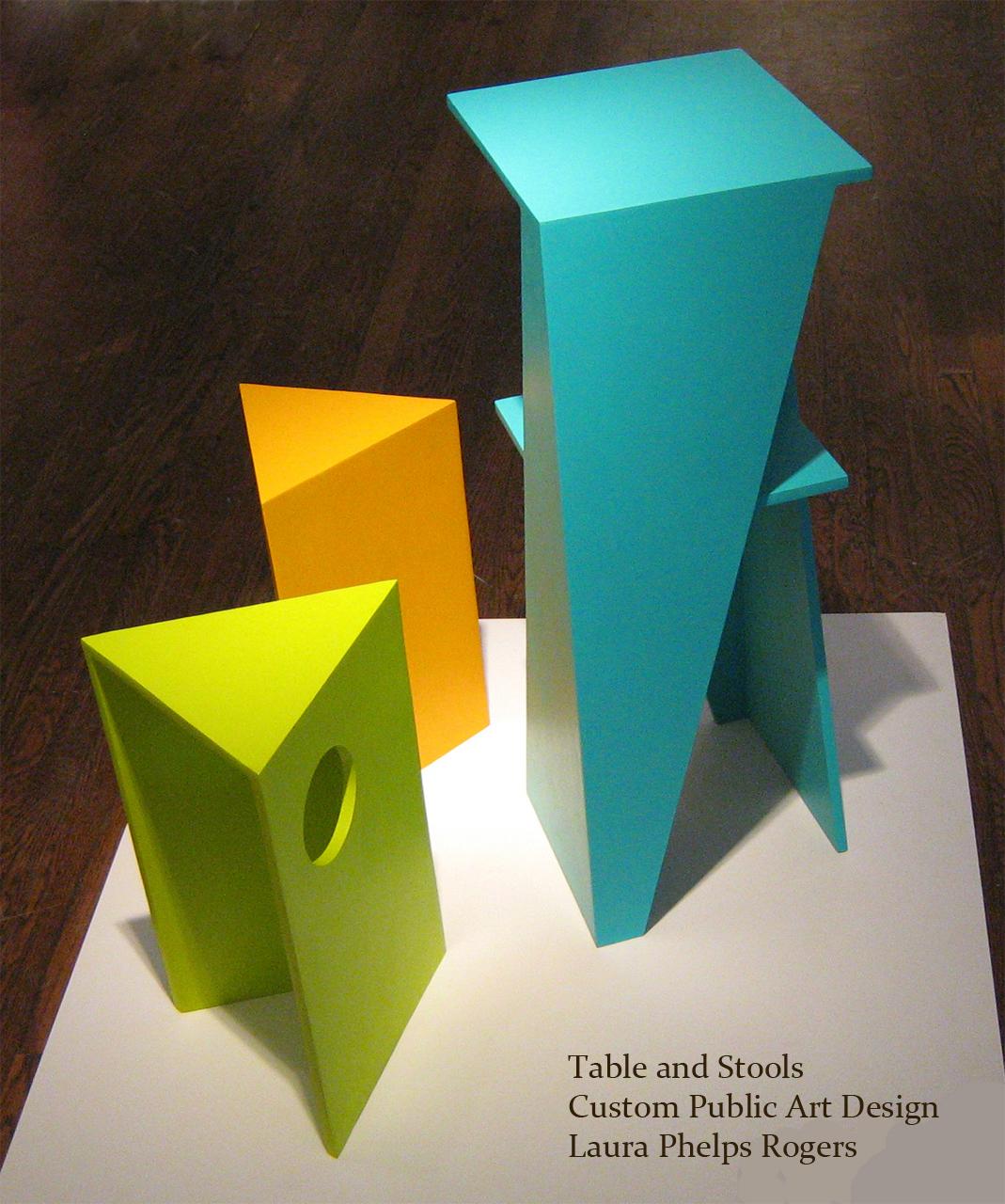 Custom Table and Stools _ laura phelps rogers.jpg