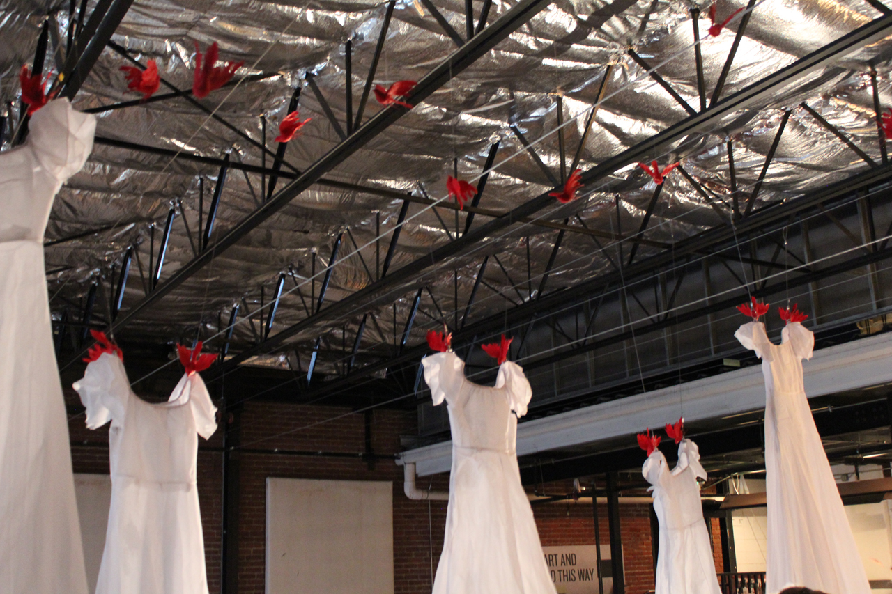 DRESSES AND CLOTHES AS DECOR, shown top of Artopia Installation_ laura phelps rogers.jpg