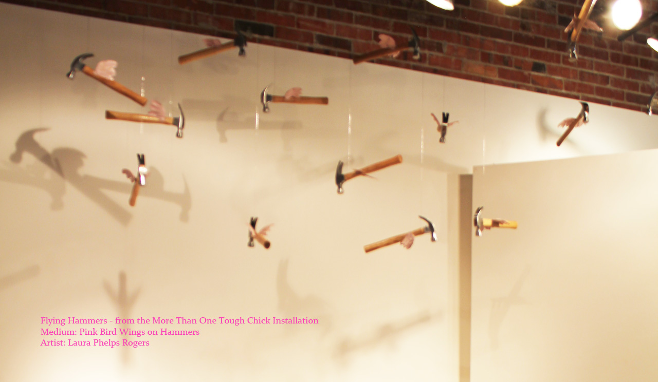 Flying Hammers with pink bird wings_ laura phelps rogers.jpg