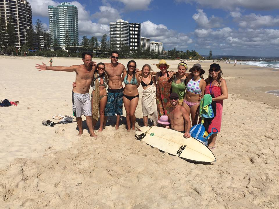 First round YTT's enjoying a morning together in the waves at Coolangatta
