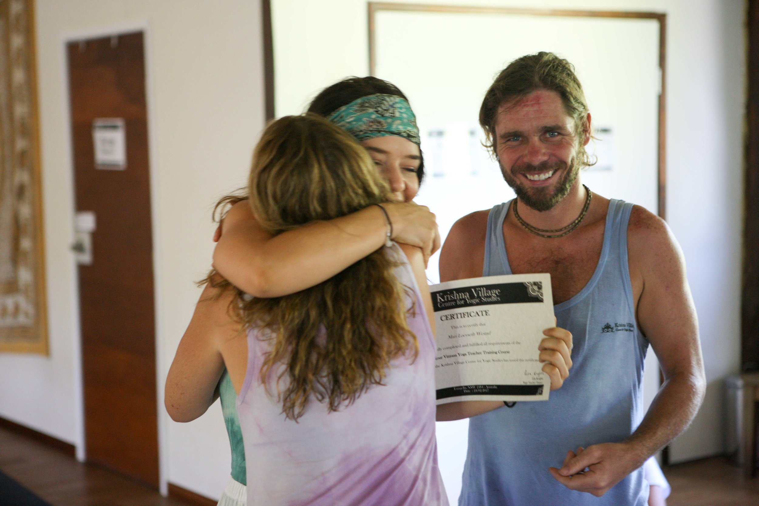 A very proud and happy moment receiving my yoga teacher certificate.